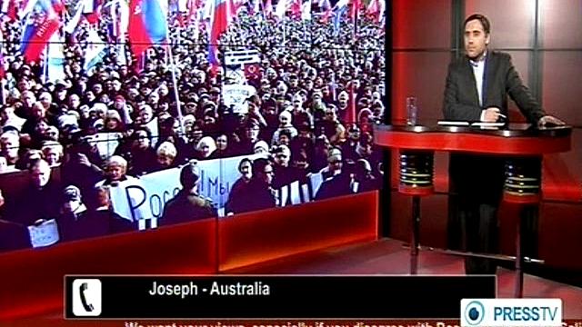 Ведущий Press TV объяснил зрителю из Австралии ситуацию на Украине