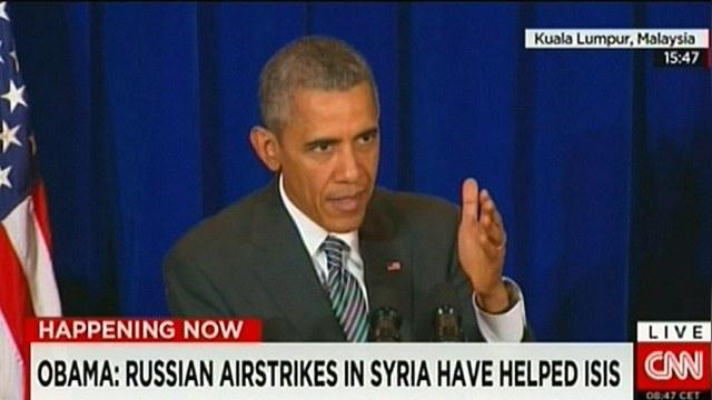 Обама: Авиаудары России только помогли террористам из ИГ — ИноТВ