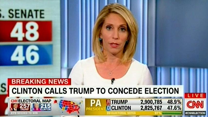 хиллари клинтон признала победу трампа выборах сша