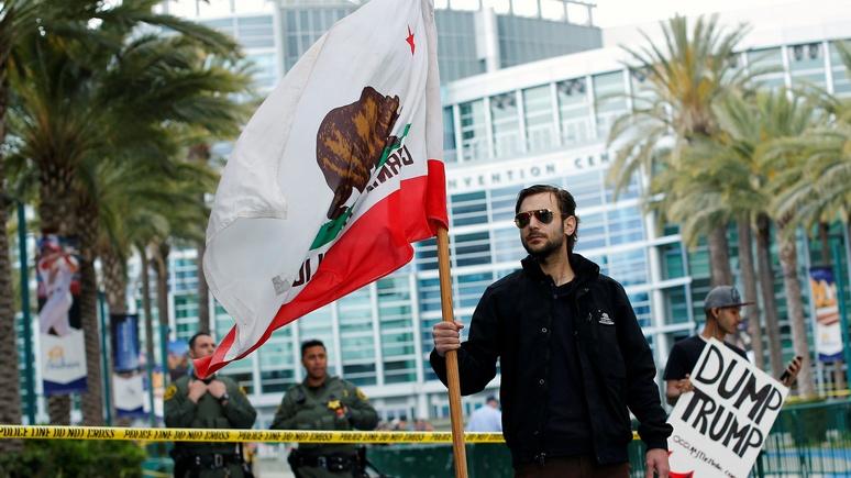 Вштате Калифорния начался сбор подписей зареферендум оботделении отСША