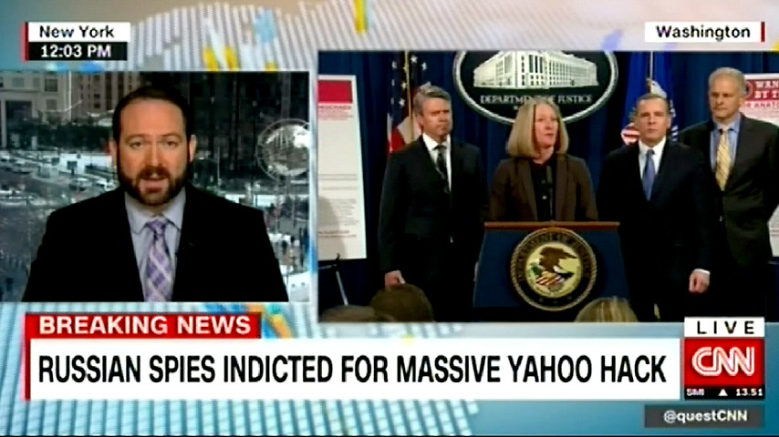 CNN: Минюст США обвинил сотрудников ФСБ во взломе Yahoo