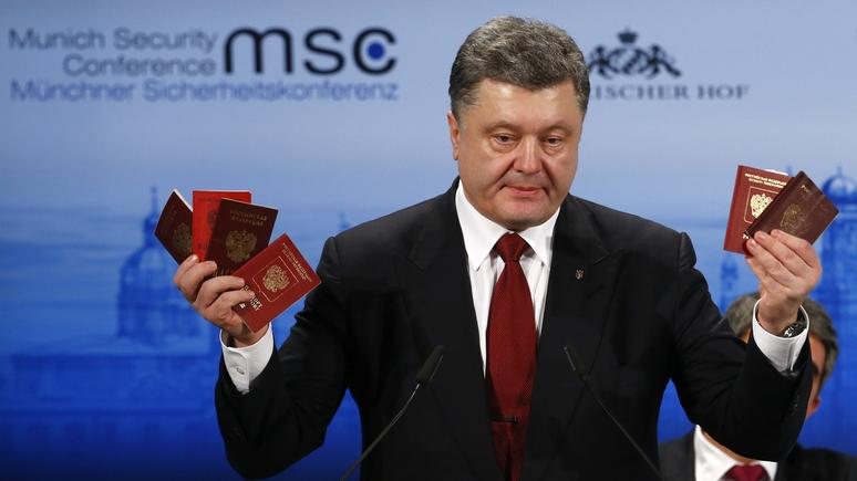 Standard: борьбой с двойным гражданством Порошенко навредит не России, а Европе