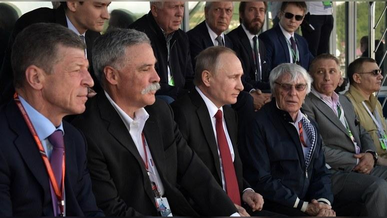 Путин прибыл на«Сочи Автодром», где проходит гонка «Формулы-1»