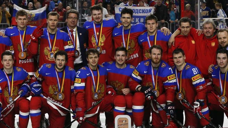 Сборная Российской Федерации похоккею заняла 3-е место наЧМ— Бронза вместо золота