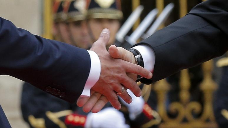 Frankfurter Allgemeine не верит в антизападный альянс Путина и Макрона