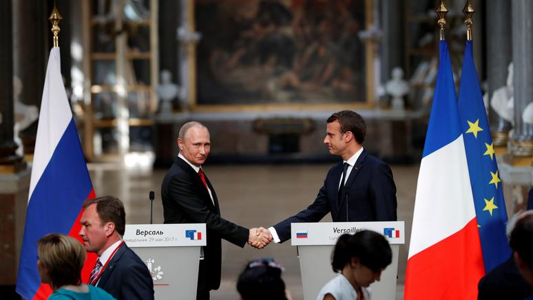 Le Figaro: Макрон пользуется встречей с Путиным для укрепления своих позиций