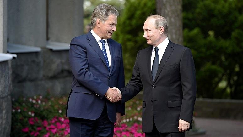 ВФинляндию накануне визита В. Путина прибыл русский транспортный самолёт