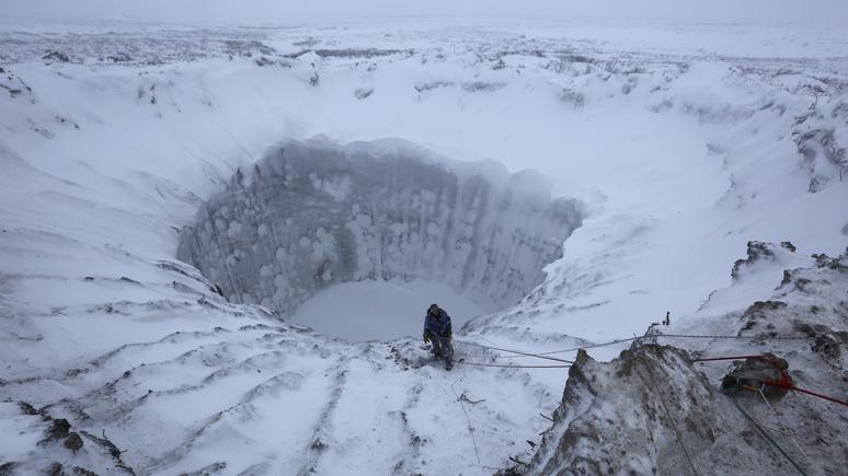 CNBC: от таяния вечной мерзлоты Сибирь пошла кратерами