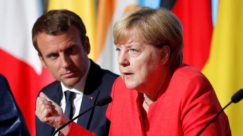 Ouest-France: Макрон и Меркель призвали Путина и Порошенко гарантировать перемирие в Донбассе