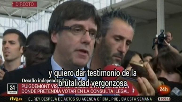 Глава правительства Каталонии: неоправданным насилием Мадрид портит имидж Испании