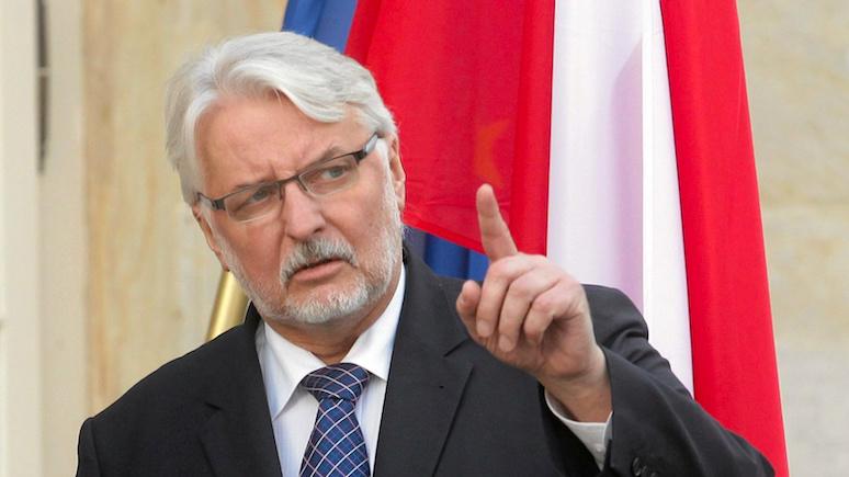 Глава МИД Польши: раз за Крым Украина не объявила России войну, то и нам не стоит