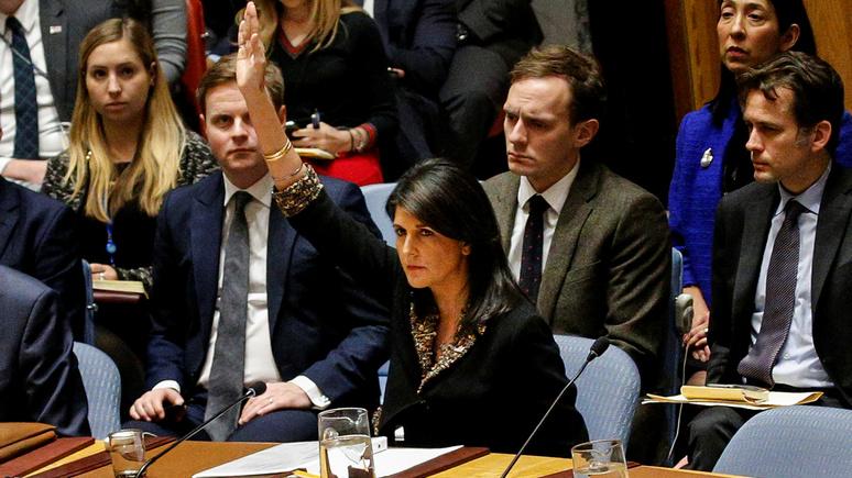 Вашингтон запомнит имена проголосовавших впредставительстве международной организации ООН против принятия Иерусалима
