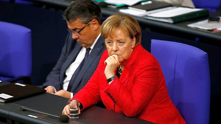 Каждый 2-ой германец выступает запреждевременную отставку Меркель