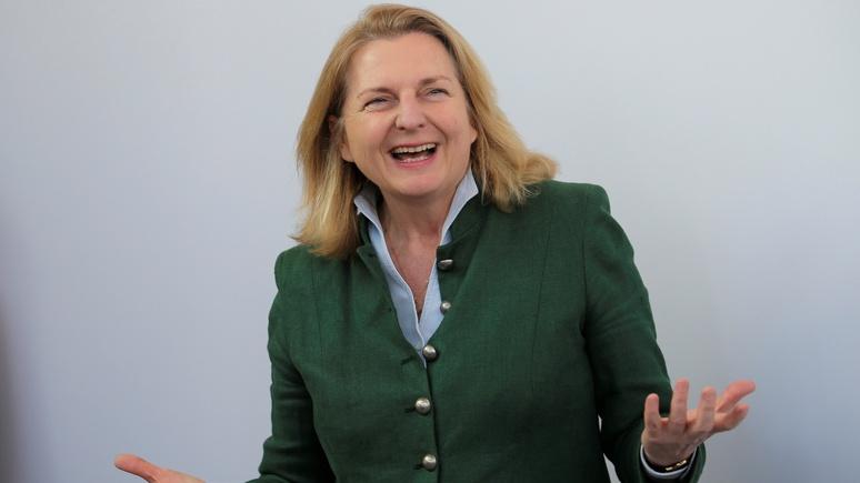 Руководитель МИД Австрии сообщила, что санкции Запада против РФ несработали