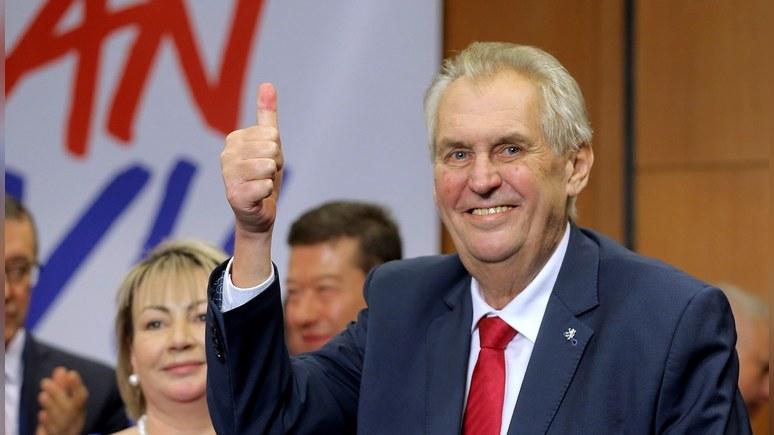Telegraph: победа Земана — удар для сторонников проевропейской Чехии
