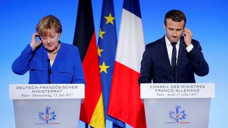 Financial Times: «медовый месяц» Франции и Германии окончен