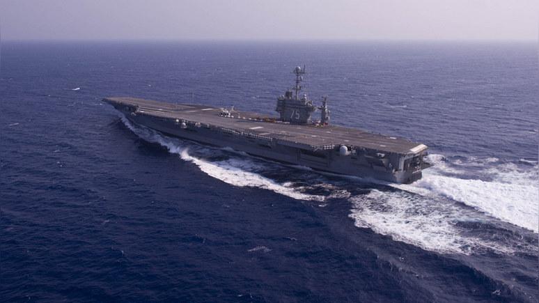 DN: Пентагон может оставить в Средиземном море «Гарри Трумэна», чтобы присмотреть за Россией