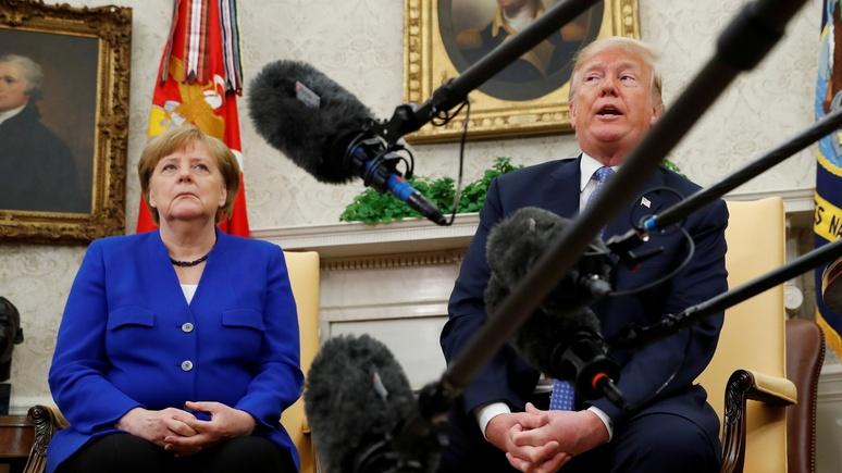 NYTimes: взаимные комплименты не помогли Трампу и Меркель найти общий язык