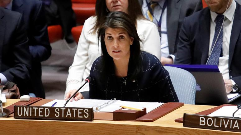 Handelsblatt: постпред США при ООН оправдала действия Израиля против палестинцев