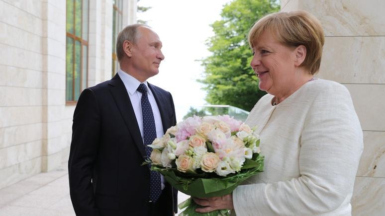 Путин оскорбил Меркель цветами