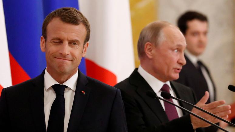 Die Zeit: Макрон и Путин договорились поддерживать тесный контакт по Сирии