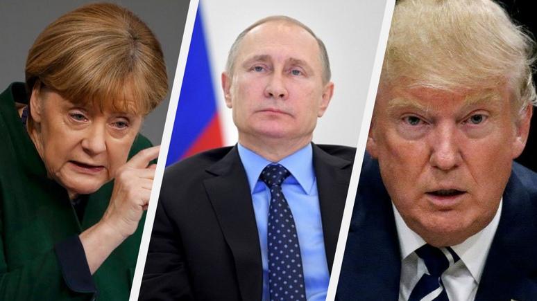 FAZ: «мягкая сила» Меркель не в состоянии совладать с «уличными хулиганами» — Путиным и Трампом