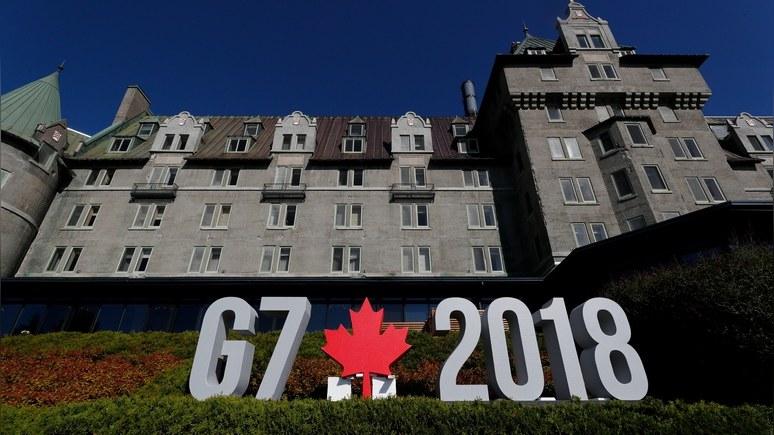 CBC: Канада отвергла возвращение России в G7, а Италия поддержала