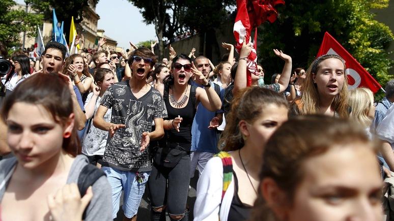 WSJ: итальянцы первые — отчаявшаяся западная молодёжь идёт против системы