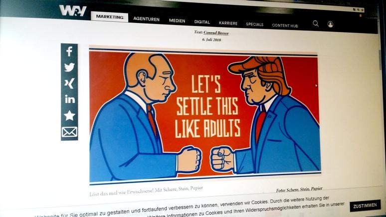 Посвященное встрече В.Путина иТрампа пиво стало популярным вХельсинки
