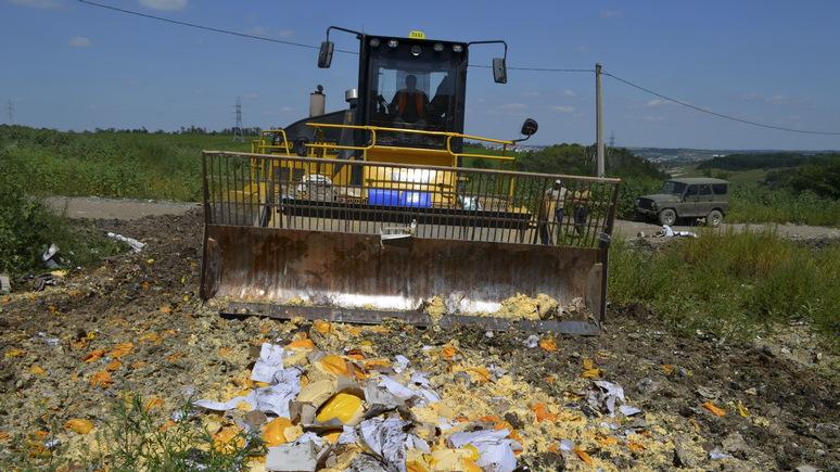 Newsweek: Россия отчиталась о борьбе с санкционкой —  под бульдозеры  отправлено 26 тысяч тонн