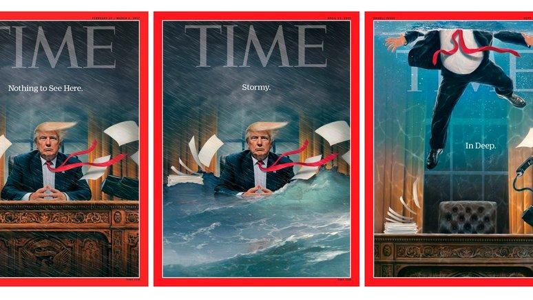 Автор обложки журнала Time разъяснил изображение затопленного кабинета Трампа