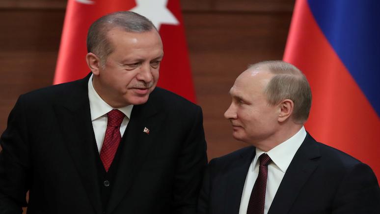 Путин иЭрдоганом вопросы двустороннего сотрудничества