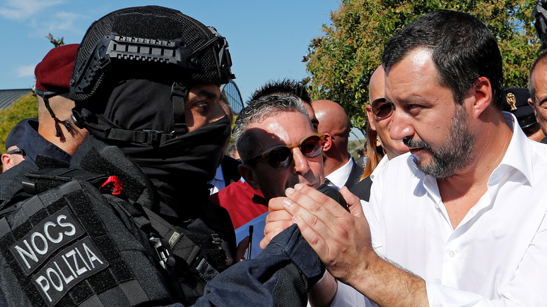 Le Point: Сальвини направил полицейских охранять границу от французских «провокаций» с мигрантами
