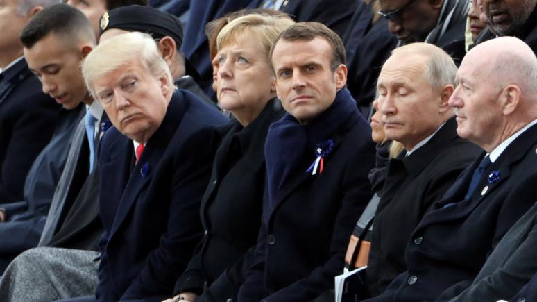 Figaro: Путин, Трамп и Эрдоган оказались «неудобными гостями» на торжествах в Париже