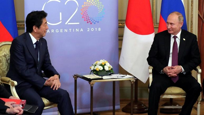 Nikkei Asian Review: по дороге в Давос Абэ заедет в Путину — обсудить вопрос Курил