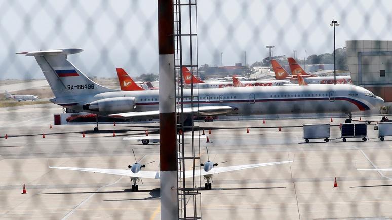 ZDF: самопровозглашённого президента Венесуэлы встревожили российские самолёты в Каракасе