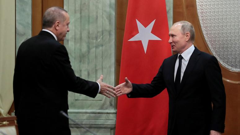 Les Echos: газ, ракеты, геополитика — Путин и Эрдоган сходятся во всём