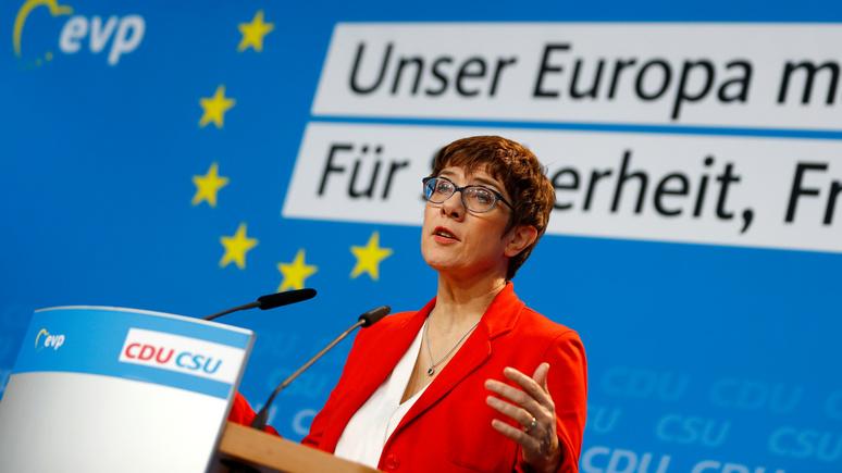 Bild: преемница Меркель выступила за «Северный поток — 2»