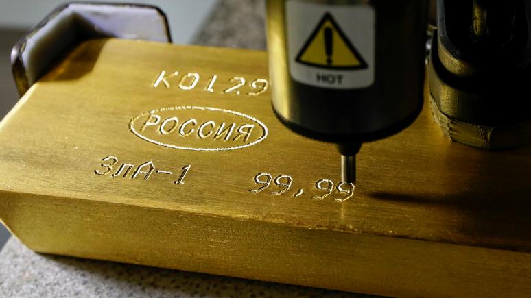 Английские СМИ обеспокоены рекордными закупками золота Россией: «плохой знак»