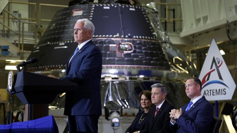 Майк Пенс: мы снова доберёмся до Луны и на этот раз останемся там